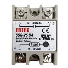 Fotek Solid State Relay Module SSR-25DA 3-32V DC Input 24-480VAC SSR-25DA 25A
