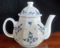 The Ioscany Collection Teapot White Blue Vintage Ceramic Porcelain Taiwan