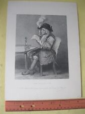Vintage Print,POLITICIAN,Copy of Hogarth,19th Cent.Occupations