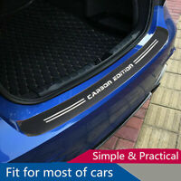 Accessories 4D Carbon Fiber Film Car Trunk Guard Plate Sticker Moulding Trim