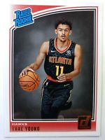 2018 18-19 Panini Donruss Rated Rookie Trae Young RC #198, Atlanta Hawks