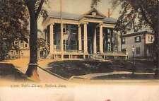 Medford Massachusetts Public Library Street View Antique Postcard K14962