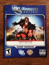 DC Universe Online PS3 Sony Playstation 3 Instruction Manual Only