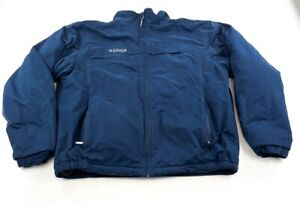 Columbia Jacket Adult Large Blue Gray Logo Outdoors Full Zip Coat Mens