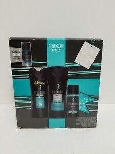 AXE Apollo Gift Set with Body Spray, Antiperspirant & Body Wash w/ bonus
