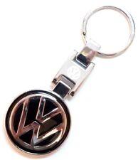 VW Logo Porte-clés Emblème Chunky Black Badge Metal Keychain R32 R Ligne T5 Chrome