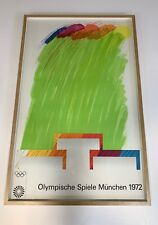 More details for original 1972 munich olympics richard smith artist series print poster framed