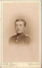 CDV photo Soldat - Wesel 1880er