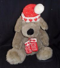 "16"" VINTAGE CHRISTMAS TARGET BABY KRIS MUTT PUPPY DOG STUFFED ANIMAL PLUSH TOY"
