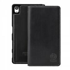 bugatti Flip Tasche FlipCase BookCover Leder Oslo Sony Xperia Z5 Black Schwarz