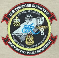 """USN Navy Patch:  Ship - USS Theodore Roosevelt CVN-71 """"I Did the Ditch"""" - 4 1/4"""""""