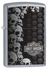 ZIPPO Benzin Feuerzeug Harley Davidson ® MULTI SKULLS 60003484 NEUHEIT 2018