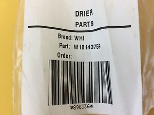 Whirlpool Refrigerator Drier Part W10143759 New In Box