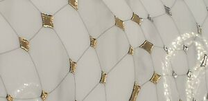 Gold & White Porcelain Decor tile 300 mm x 600 mm x 8mm  6 Tiles= 1 Sqm