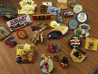 Lot of 30 Hat Pins Metal Enamel