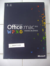 MS Microsoft Office MAC 2011 Home and Business Licensed for 2 MACs =SEALED BOX=