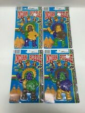 Lot of 4 Vintage United 3D Plastic Indian Puzzles Justen Products NOS L1