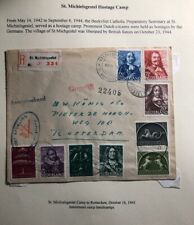 1943 St Michaeilgestel Netherlands Concentration Camp KZ Reg Cover to Rotterdam