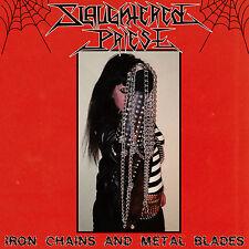 Slaughtered priest-Iron Chains and METAL Blades LP splatter vinyl Black speed