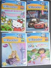VTECH V READER LOT 4 READERS HELLO KITTY RAPUNZEL DORA THE EXPLORER DISNEY CARS
