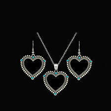 Montana Silversmiths -  Turquoise Hearts Jewellery Set - ( JS1076 ) - New