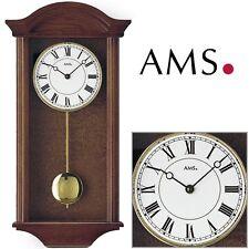 AMS 990/1 Reloj de pared con Péndulo Cuarzo, Madera Maciza Reloj para salón 4/4