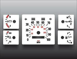 1984-1991 Jeep Grand Wagoneer White Face Gauges 84-91