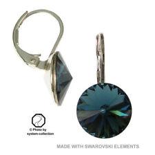 Orecchini di bigiotteria blu con strass di cristallo