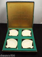 Vintage Lenox Nassau Set of Four Ash Trays Shell Shaped Mid Century Original Box