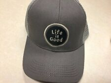 1546 NWT Womens Life Is Good Slate Gray Snap Back Hat Sz OS MSRP 24.00
