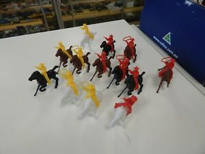 Plastic Mounted Cowboys  over 195 figures
