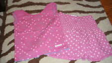 BOUTIQUE NAARTJIE L 6 YRS PINK FLORAL POLKA DOT TOP SKIRT SET