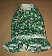 Dog Dress Outfit Clothes Chihuahua Toy Breed 4 Leaf Clover St Patrick's Small S