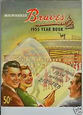 1955 MILWAUKEE BRAVES YEARBOOK