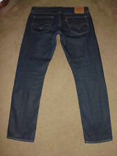 LEVI'S Men's MATCHSTICK Skinny RAW SELVEDGE 38 x 34 Dark Indigo Jeans 511 514