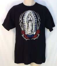 Virgen Guadalupe Madonna Catholic Christian T Shirt Lg Virgin Mary LENT EASTER