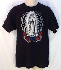 Virgen Guadalupe Madonna Catholic Christian T Shirt Lg Virgin Mary LENT EASTER
