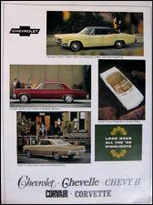 1966 Chevrolet Color Brochure Impala Corvette Chevelle Original GM 66