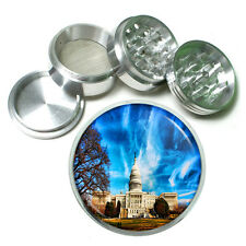"Washington D.C. D1 Aluminum Herb Grinder 2.5"" 63mm 4 Piece Landmarks"