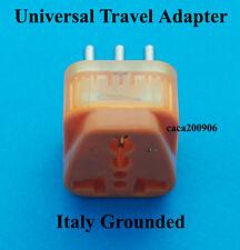 UK AUS Euro USA to Italy Grounded Travel Adaptor AC Power Plug Surge Protection