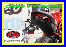 Evotech Portatarga regolabile Ducati Monster 797 Tail Tidy Luce Targa Elt001