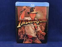 INDIANA JONES Quadrilogy Complete Adventures Steelbook Bluray Harisson Ford DVD