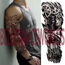 MECHANICAL ROBOT FULL ARM SLEEVE TEMPORARY TATTOO BODY ART STICKER NON TOXIC NEW