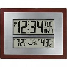 Atomic Clock Weather Forecast Digital Indoor Outdoor Temp Self Setting Time