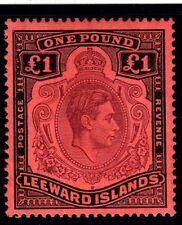 Leeward ISLANDS-1938-51 Marron Violet & Noir Rouge Monté Excellent État Example