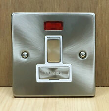 Click Deco Victorian Satin Chrome 13A Fused Switched Unit With Neon VPSC752WH 16