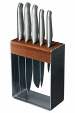 NEW Furi Clean Store Stainless Steel Knife Block Set 7 Piece