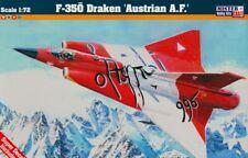SAAB J-35 DRAKEN (AUSTRIAN, DANISH & SWEDISH AF MKGS)#D89 1/72 MISTERCRAFT