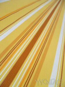 Tapete Wandtapete original 70er Streifen orange gelb geometrisch