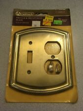 Vintage NOS Amerock Switch/Receptacle Solid Brass Cover Plate Georgian Manor Col